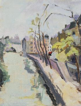 Quai des Grands Augustins, Paris, 1961 (oil on paper)