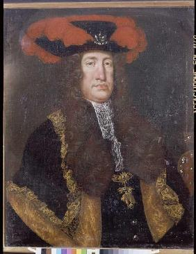 Portrait emperor Karls VI. (1685-1740) out of the house goods castle, king of Hungary and Spain