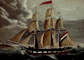 The frigate Marie Elisabeth.
