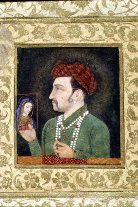 Jahangir Holding A Picture Of The Madonn Anonymous As