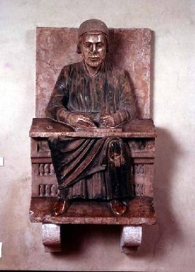 Figure of the Roman poet Virgil (70-19 BC) from Mantua Cathedral
