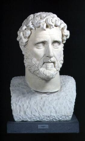 Portrait bust of Emperor Antoninus Pius (86-161) from the Baths of CaracallaRome