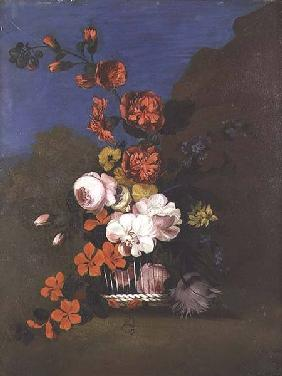 Still Life of Flowers (one of a pair)