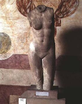 Torso of Aphrodite, Roman copy of the Greek original by Praxiteles