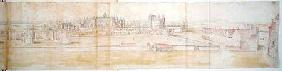 Hampton Court Palace from the North, from 'The Panorama of London'