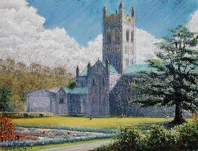 Early Spring, Buckfast Abbey, 2001 (pastel on paper)