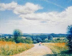 Sunday Stroll, 2003 (pastel on paper)