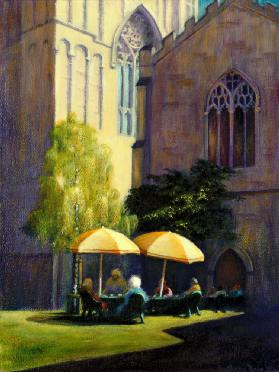Refectory Garden, Exeter Cathedral, 1999 (acrylic on paper)