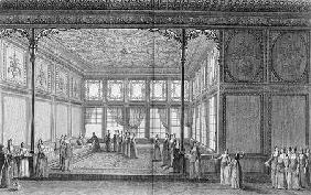 Interior of a drawing room in the Topkapi Palace of the Sultana Hadidge, sister of Selim III