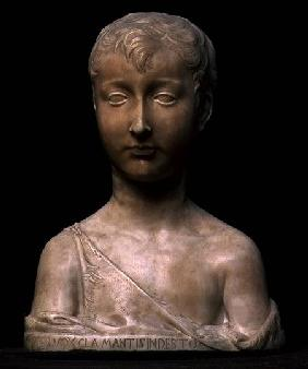 St. John the Baptist as a boy, bust