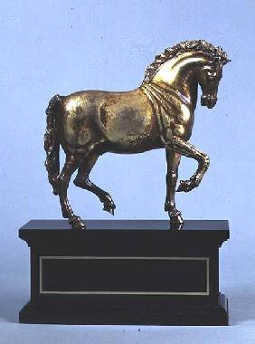 Gilt bronze walking horse, cast from a model Giovanni Bologna (1529-1608)