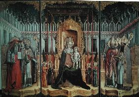 The Virgin Enthroned with Saints Jerome, Gregory, Ambrose and Augustine