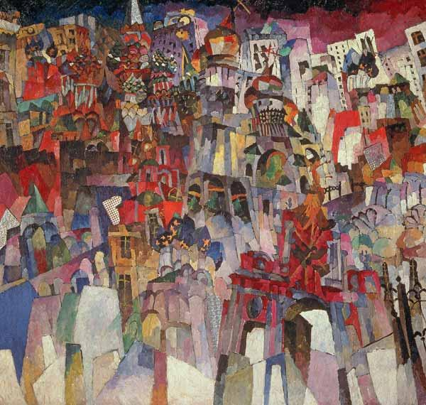 Moscow, 1913 (oil on canvas)