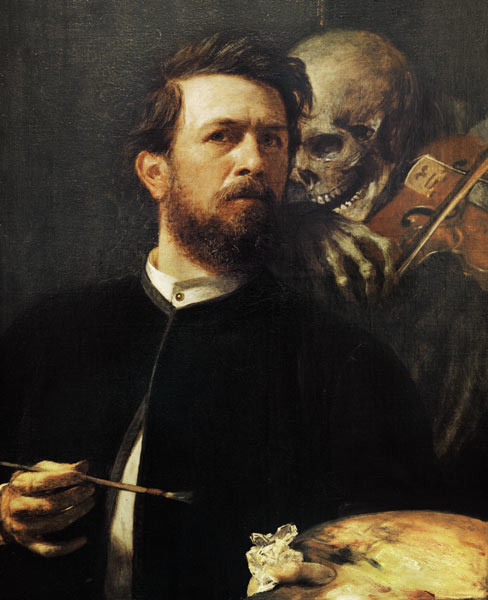 Self-portrait of Arnold Böcklin
