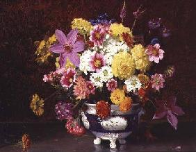 Still Life with Lilacs and Chrysanthemums