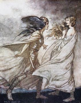 "The ring upon thy hand. Illustration for ""Siegfried and The Twilight of the Gods"" by Richard Wagner"