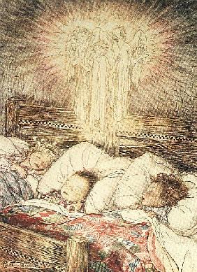 Christmas illustrations, from ''The Night Before Christmas'' by Clement C. Moore