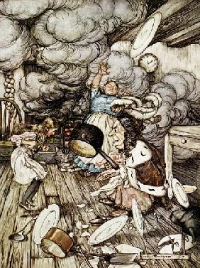 In the Duchess''s Kitchen, illustration to ''Alice''s Adventures in Wonderland'' Lewis Carroll (1832