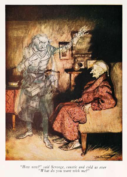 Scrooge and The Ghost of Marley, from Dickens'' ''A Christmas Carol''