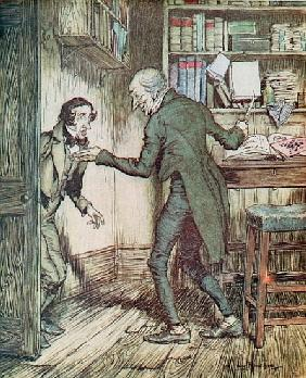Scrooge and Bob Cratchit, from Dickens'' ''A Christmas Carol''
