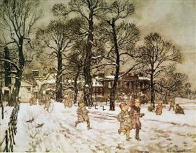 Winter in Kensington Gardens from Peter Pan in Kensington Gardens  by J.M. Barrie