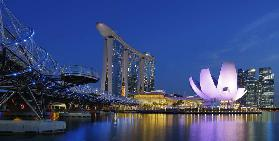 Marina Sands Bay - blue hour