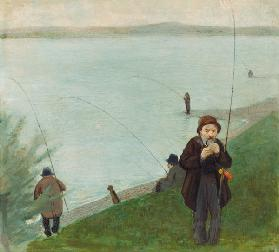 Angler at the Rhine