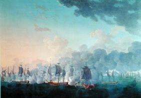 The Battle of Louisbourg on the 21st July 1781