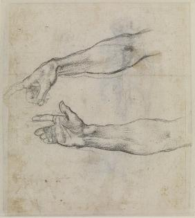 "Studies of an outstretched arm for the fresco ""The Drunkenness of Noah"""