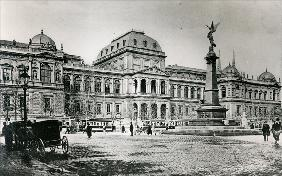 The University of Vienna and the Liebenberg Monument (b/w photo)