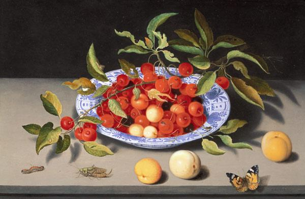 Ast, Balthasar van der : Still Life of Cherries and...