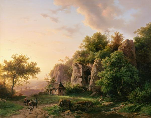 Rock landscape with chapel