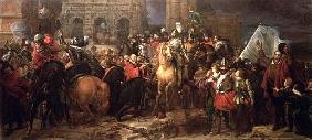 Entry of Henri IV into Paris, 22nd March 1594 (painted in 1817)