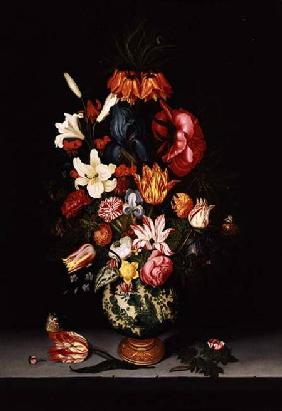 Assteyn, Bartholomeus : Still Life of Flowers on a...