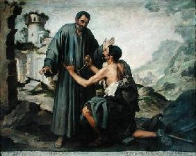 Fray Ginepero and the poor Man