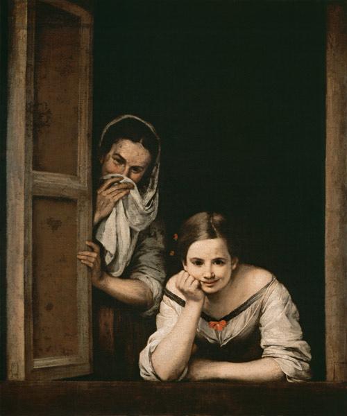 Bartolome Esteban Murillo Paintings Girl And Duena