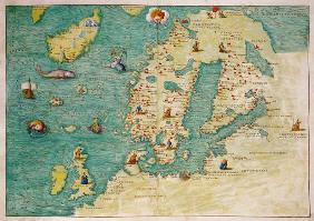 Northern Europe, from an Atlas of the World in 33 maps, Venice, 1st September 1553(see also 330952)