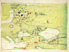 Europe and Central Asia, from an Atlas of the World in 33 Maps, Venice, 1st September 1553(see also