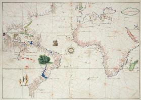 The New World, from an Atlas of the World in 33 Maps, Venice, 1st September 1553(see also 330961)