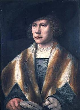 Portrait of a young man, possibly a self portrait