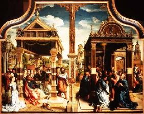 St. Thomas and St. Matthew Altarpiece, centre panel of triptych depicting scenes from the lifes of t