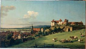 View of Pirna from the Sonnenstein Castle