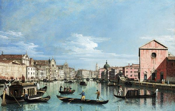 Venice. Upper Reaches of the Grand Canal facing Santa Croce