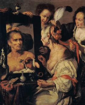 The old cocotte (Vanitas representation)