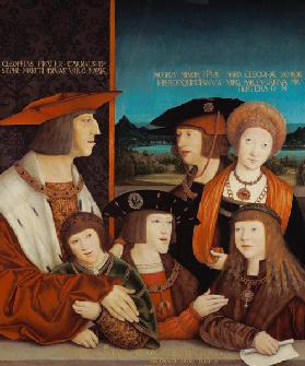 Portrait of Emperor Maximilian I with His Family