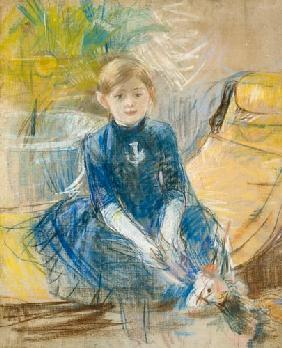 Little Girl with a Blue Jersey
