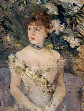 Morisot/Young woman in a ball gown/1879