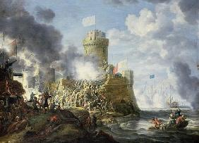 Turks Storming a Seaport