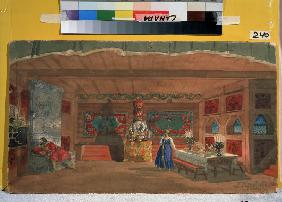 Stage design for the opera The Tsar's Bride by N. Rimsky-Korsakov