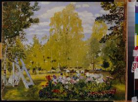 Landscape with a Flower Bed
